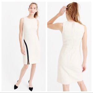 J. Crew Leather Accent Sheath Dress